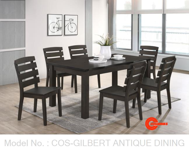 COS-GILBERT ANTIQUE DINING SET